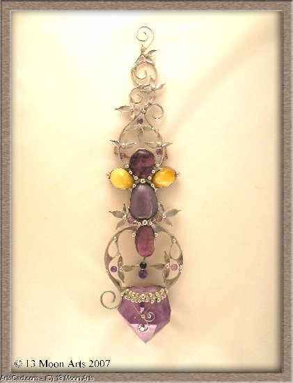 Artwork >> 13 Moon Arts >> Dancing Amethyst Sceptre