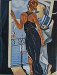 Varvara Stylidou - Woman in Blue and Sailor