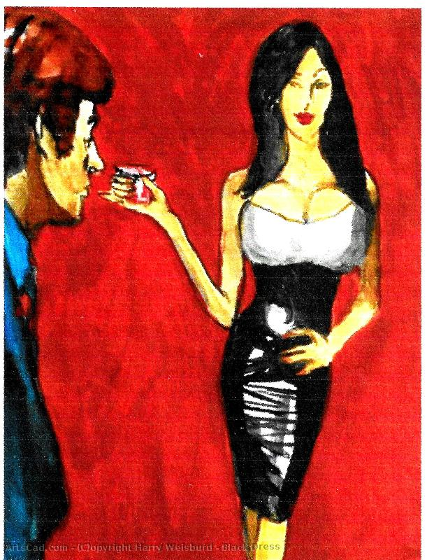 Artwork >> Harry Weisburd >> Black Dress