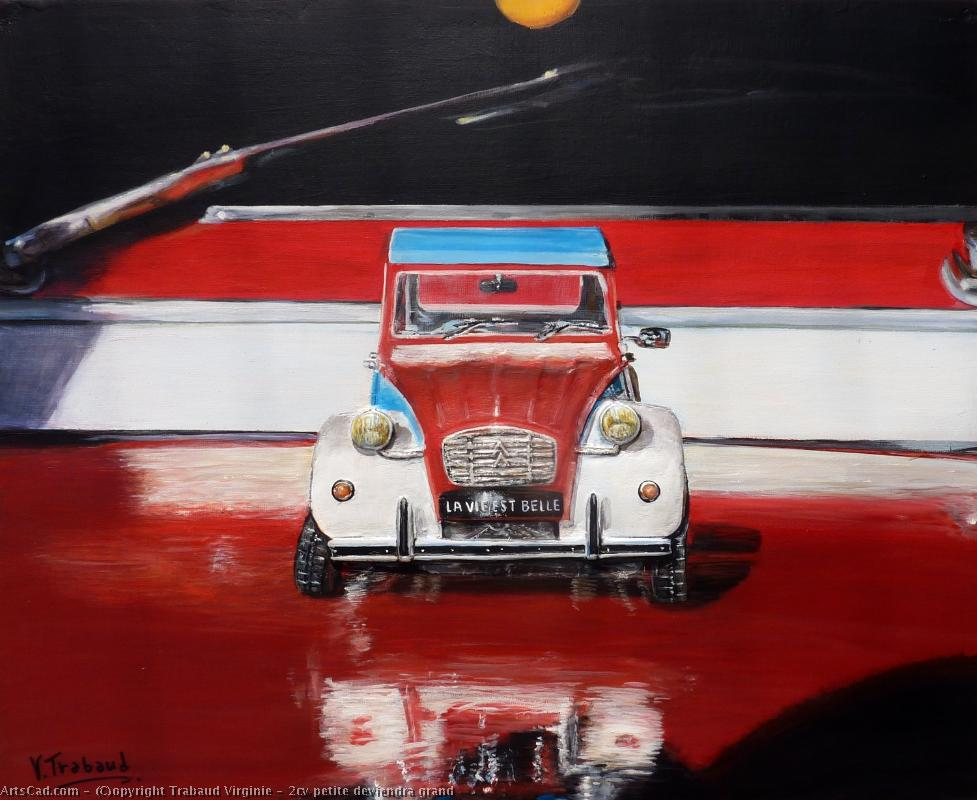 Artwork >> Trabaud Virginie >> 2cv  small  will become  big
