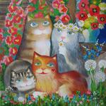 Oxana Zaika - Spring of  cats