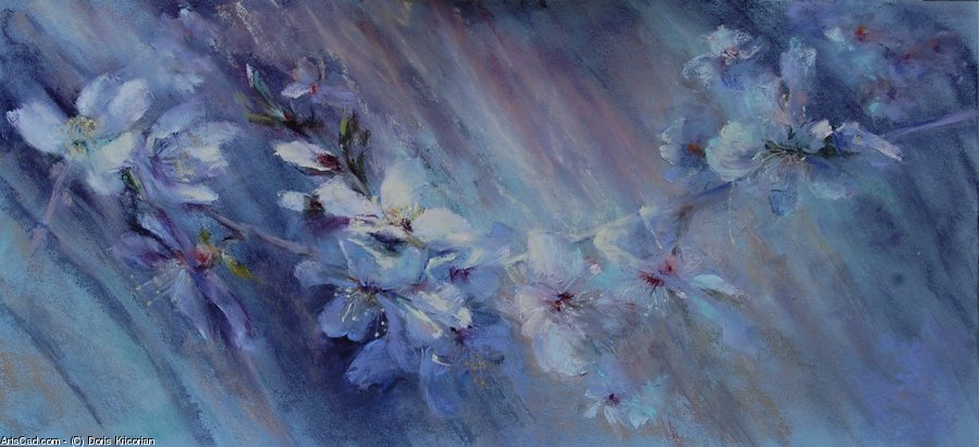 Artwork >> Doris Kricorian >> Flowers'' d'amandier