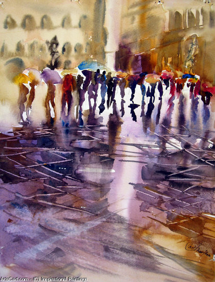 Artwork >> Inspirational Paintings >> WET STREET