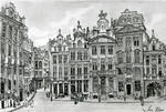 Ian Winslow Rees - Grand Place facade, Brussels
