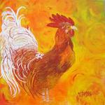 Marie-France Busset - the rooster of vexin