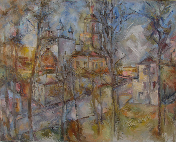 Artwork >> Michail Pugachev >> Small Russian city. Borovsk.