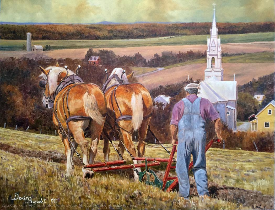 Artwork >> Denis Beaudet >> beauce and his steeples