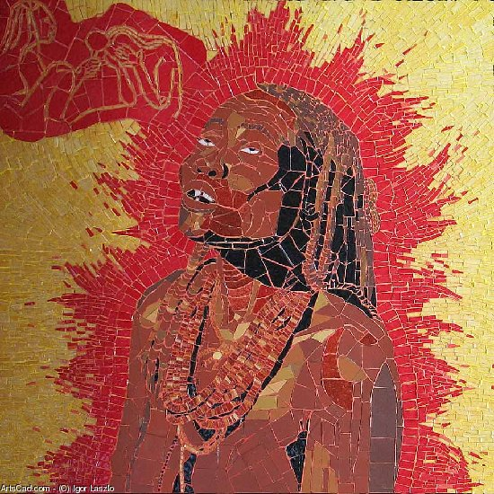 Artwork >> Igor Laszlo >> himba woman up in  trance
