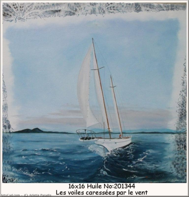 Artwork >> Arlette Paradis >> The lapped sails by wind
