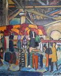 Grégoire Koboyan - Carcassonne the market underwater the hall by 1987
