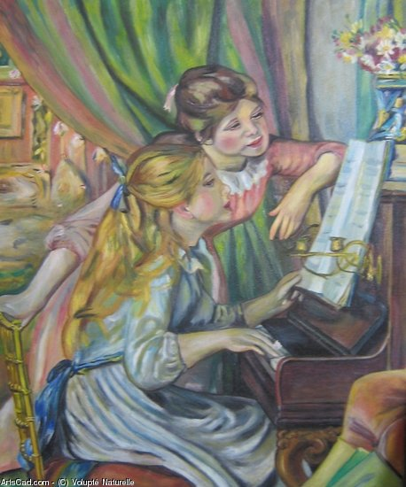 Artwork >> Volupté Naturelle >> Maidens at the piano renoir