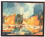 Jacky Dumergue - The harbor at Martigues