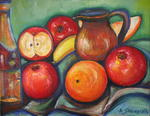 Andrée Schindler - Fruits and jug