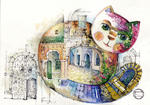 Oxana Zaika - Cat Oriental/ sold.