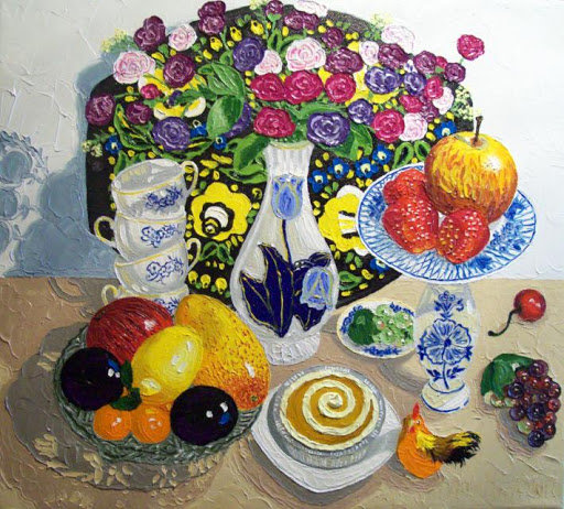 Artwork >> Artist Musina Julia >> Fruit still life. Fruit still life.