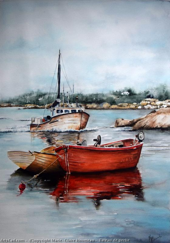Artwork >> Marie-Claire Houmeau >> Fishing Boat