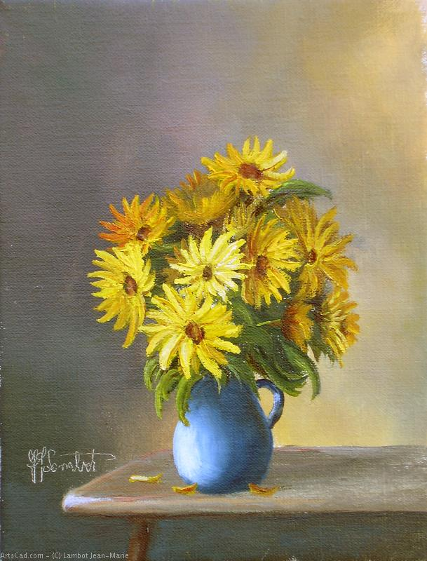 Artwork >> Lambot Jean-Marie >> Bouquet of daisies
