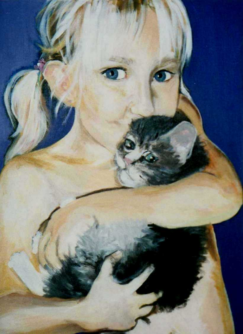 Artwork >> Marie Nørby >> two lovely kittens of mine