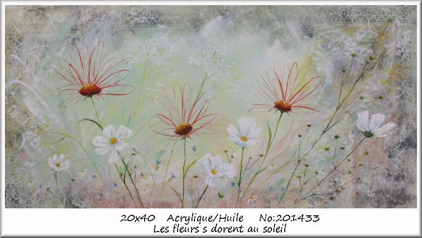 Artwork >> Arlette Paradis >> The flowers basking in the sun