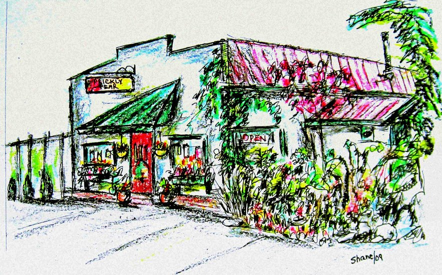 Artwork >> Leonard Shane >> Prickly Pear Garden Shop, Steveston, B.C.