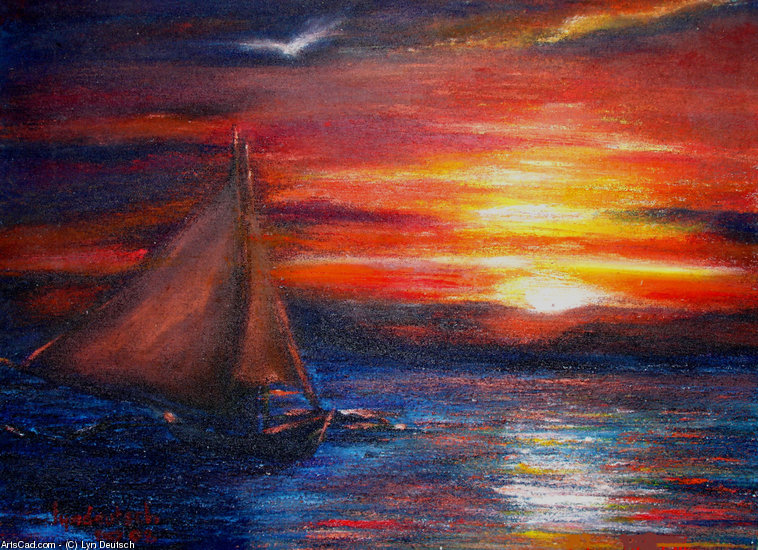 Artwork >> Lyn Deutsch >> SUNSET SAIL