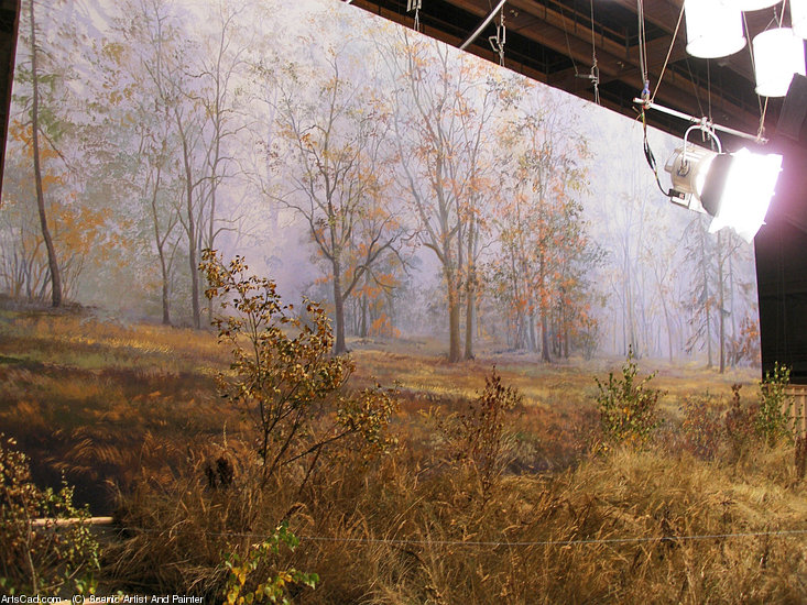 Artwork >> Scenic Artist And Painter >> Film Backing From