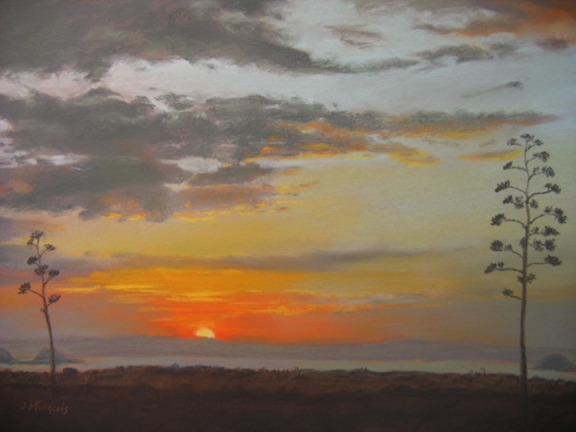Artwork >> Josette Francois >> Petworth sunset some savannah