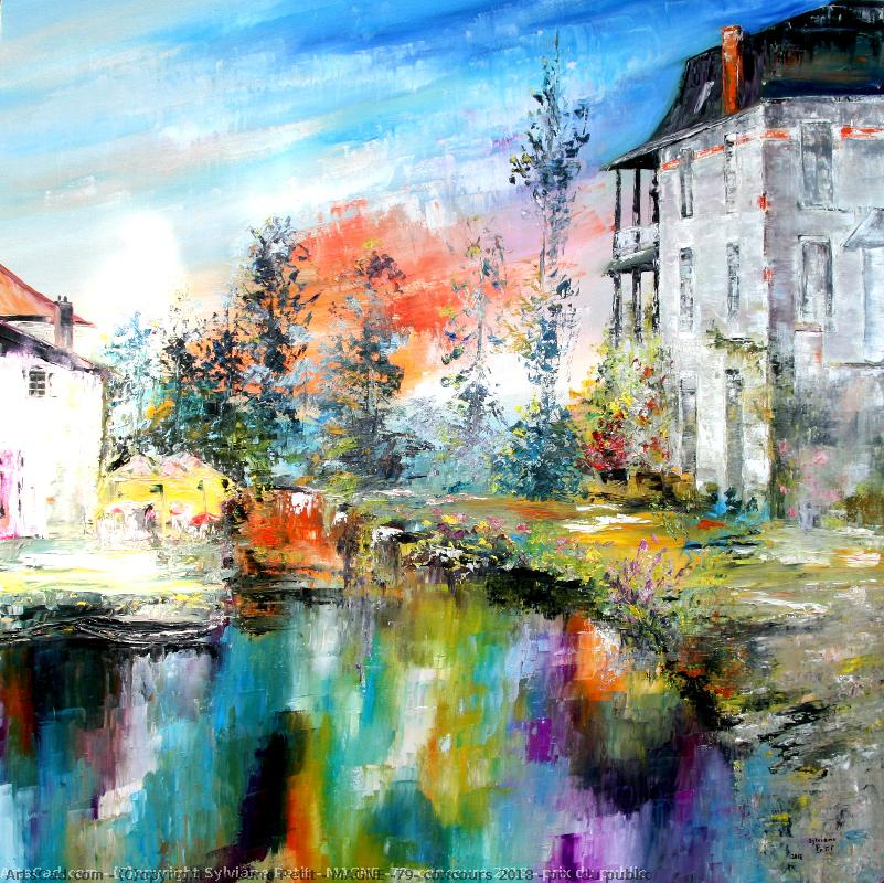 Artwork >> Sylviane Petit >> MAGNE ( 79 ) town marsh Poitevin near the NIORT- 30ème of festival of paint 2018 - 1er prices public as