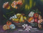 Antonio Cariola - still life , with so much luce-pittura acryl on canvas