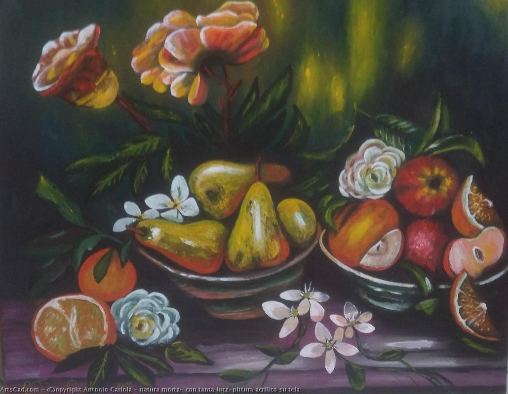 Artwork >> Antonio Cariola >> still life , with so much luce-pittura acryl on canvas