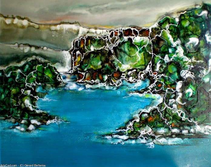 Artwork >> Gérard Elefteriou >> Mountain lake
