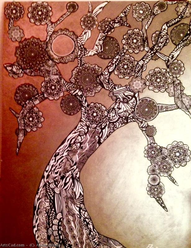 Artwork >> Annie Predal >> L'arbre of life ( sold. )