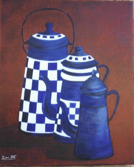 Artwork >> Devred Tl >> Trio of coffee makers