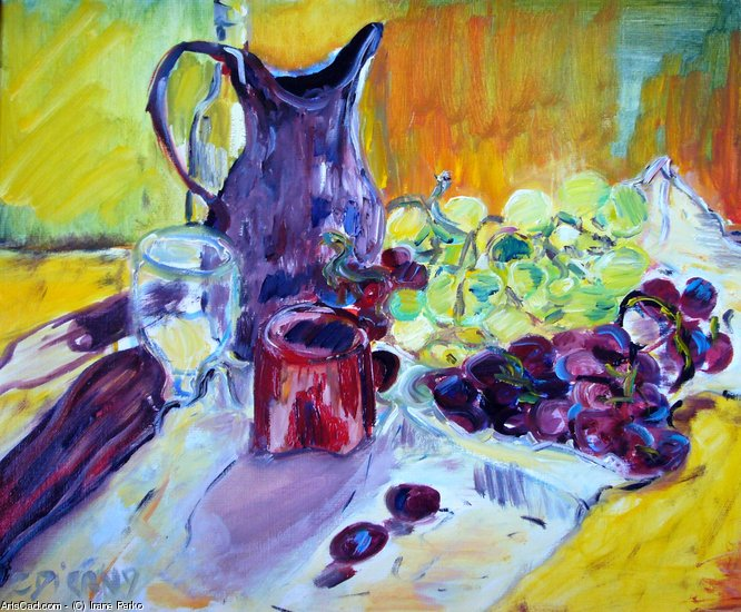 Artwork >> Irane Perko >> pitcher the  grapes