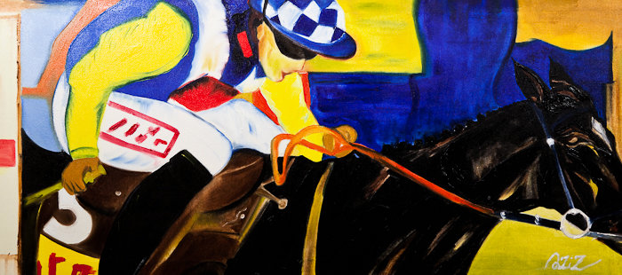 Artwork >> Aziz Anzabi >> Jumping at Ascot