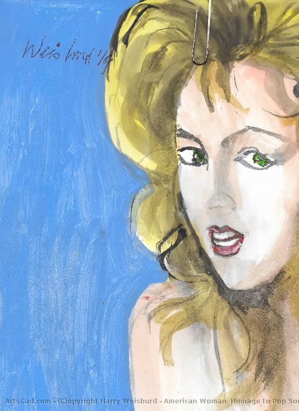Artwork >> Harry Weisburd >> American Woman  Homage to Pop Song