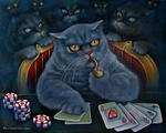 Svetlana Kislyachenko - Cat playing poker-2
