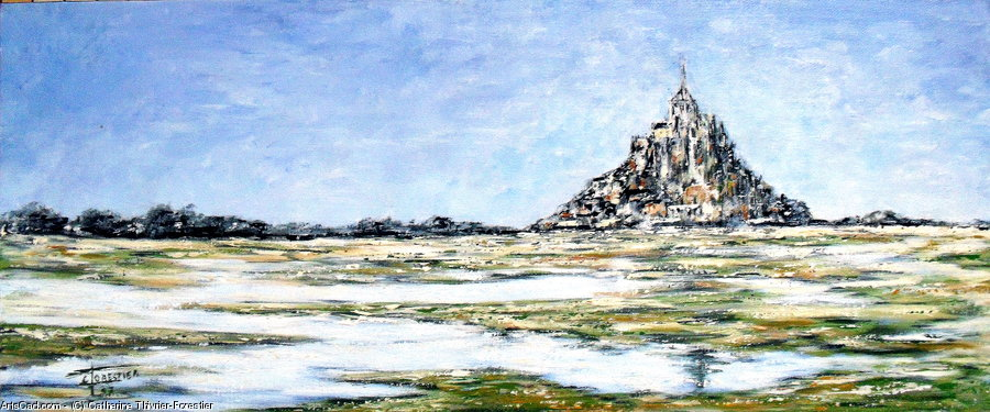 Artwork >> Catherine Thivrier-Forestier >> the mount st michel at low tide