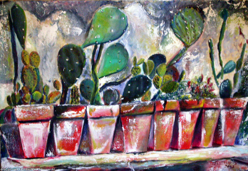 Artwork >> Stephane Texereau Art >> SHELF THE CACTUS
