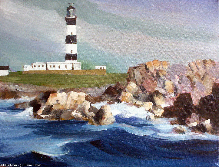 Artwork >> Daniel Laviec >> Ouessant Lighthouse the creach
