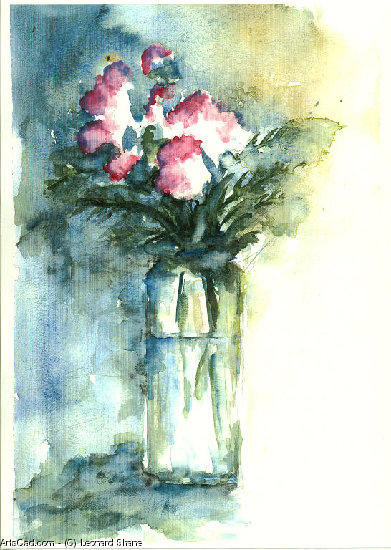 Artwork >> Leonard Shane >> Carnations in Vase