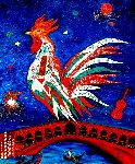 Marie-France Busset - affair of the  rooster  up in  Italy