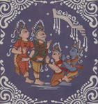 Classical Indian Art Gallery - BALARAMA - KRISHNA ARE BLESSED