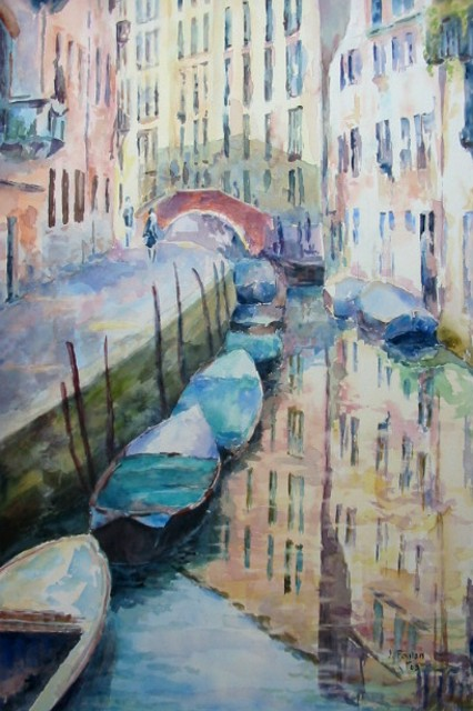 Artwork >> Jacques Fontan >> In Venice Reflections