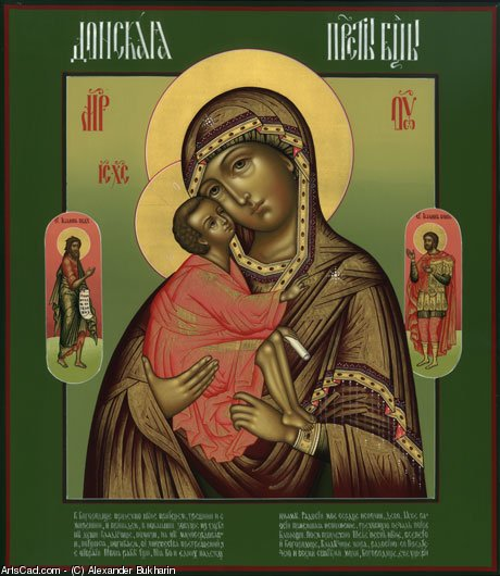 Artwork >> Alexander Bukharin >> Don icon of the Mother of God