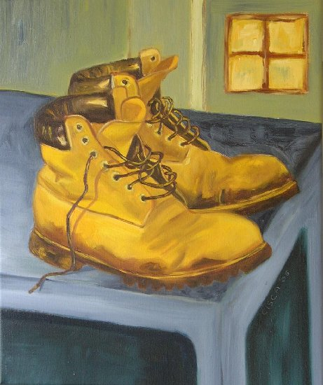 Artwork >> Cisca Van Veelen >> These boots are made for walking