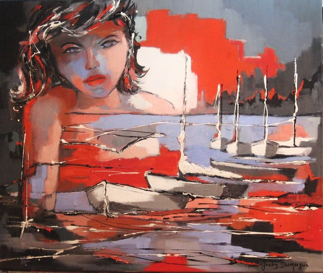 Artwork >> Jacky Dumergue >> The brunette siren