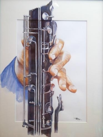 Artwork >> Bruno Montoni >> handmade the clarinetist
