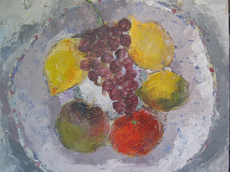 Artwork >> Ada Rawet Creations >> Still Life with Grapes