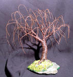 Sal Villano Wire Tree Sculpture - RUSTED WILLOW - Mini Wire Tree Sculpture